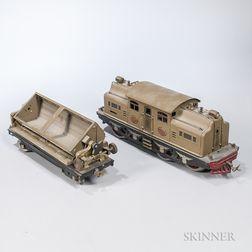 Lionel 402E Electric Locomotive and Tender.     Estimate $200-300
