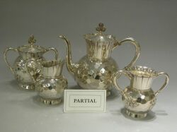 Rogers Smith Seven-Piece Aesthetic Silver Plated Tea and Coffee Service.