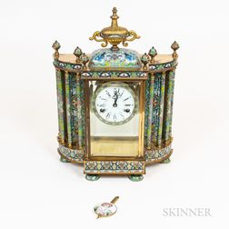 Champleve Shelf Clock