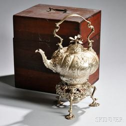 George II Sterling Silver Kettle-on-Stand