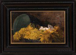 Roman Kochanowski (Polish, 1857-1945)      Still Life with Yellow Flowers.