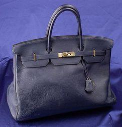 Indigo Togo Leather