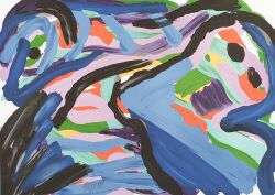 Karel Appel (Dutch/American, b. 1921)  Floating in a Landscape