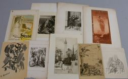 Lot of Sixteen Miscellaneous Works on Paper:      Robert Walker Macbeth (British, 1848-1910)
