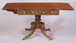 Regency Mahogany and Carved Mahogany Sofa Table