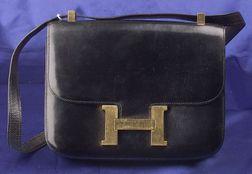 Vintage Black Box Leather
