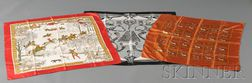 Three Silk Scarves, Hermes