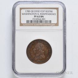 1783 Washington & Independence Cent, NGC PF62 BN