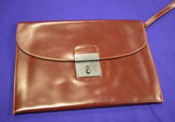 Burgundy Leather Portfolio, Hermes