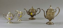 Four-Piece Sterling Silver Tea and Coffee Set