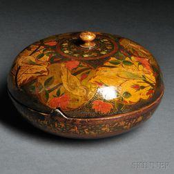 Safavid-style Polychrome Lacquered Papier-mache Casket