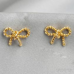 18kt Gold Bow Earstuds, Tiffany & Co.