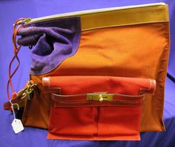 Leather, Suede and Canvas Dog Carrier, Hermes