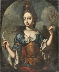 School of Pierre Mignard (French, 1612-1695)      Mademoiselle de la Fontaine as Demeter (Ceres)