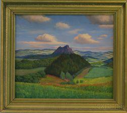 Hanny Franke (German, 1890-1973)      Summer Landscape with Mountain