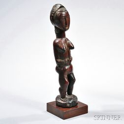 Baule Carved Wood Female Figure