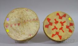 Two Indian-made Hand Drums