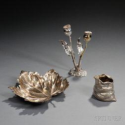 Three Decorative Silver Table Items