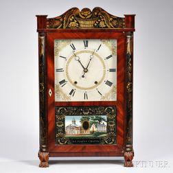 Eli Terry & Sons Stenciled Column and Splat Shelf Clock