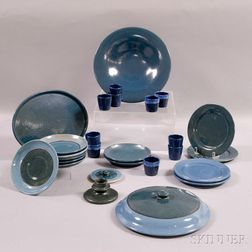 Twenty-three Pieces of Saturday Evening Girls/Paul Revere Pottery