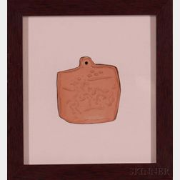 Pablo Picasso (spanish, 1881-1973) Picador and Bull Medallion