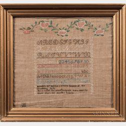 """Needlework Sampler """"Maryann Henry,"""""""