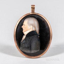 American School, Early 19th Century      Portrait Miniature of Samuel Driggs II