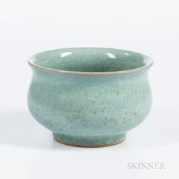 Fish-scale-glazed Celadon Bowl
