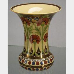 Wedgwood Copper Lustre Decorated Cane Glazed Vase