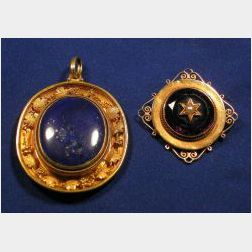 Two Antique 18kt Gold Jewelry Items