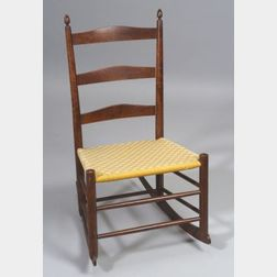 Shaker Production No. 0 Child's Armless Rocking Chair