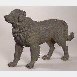 Cast Iron Newfoundland Dog Garden Ornament