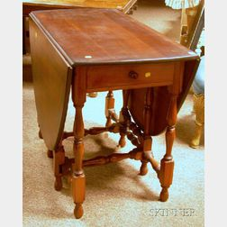 William & Mary Style Cherry Drop-leaf Gate-leg Table.