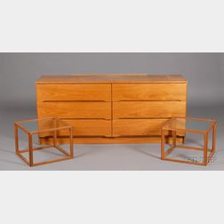 Danish Design Dresser and Two Side Tables