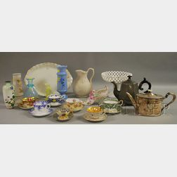Group of Decorated and Antique Table Items