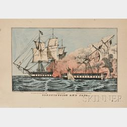 N. Currier and Currier & Ives, publishers (American, 19th Century) two small folio lithographs printed on a single piece of paper, l...