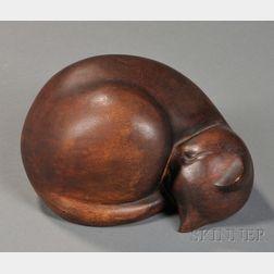 Alice Decker (American, ac. New York, 1901- )      Sleeping Cat.