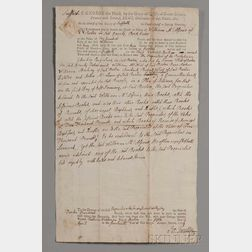 Adams, John (1735-1826) Legal Document Signed, 5 April 1774.