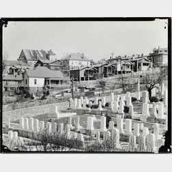 Walker Evans (American, 1903-1975)       Houses and Cemetery, Birmingham, Alabama