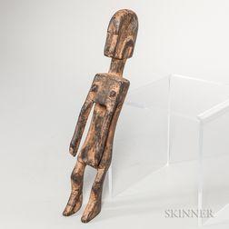 Dogon-style Carved Wood Ancestor Figure