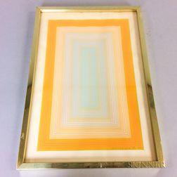 Framed Richard Anuszkiewicz (New Jersey, b. 1930) Geometric Print