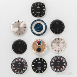 Ten Omega Wristwatch Dials