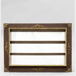 Neoclassical-style Gilt Mahogany Veneer Mirrored Hanging Shelf