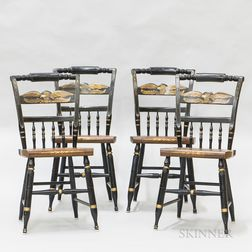 Set of Four Hitchcock Side Chairs