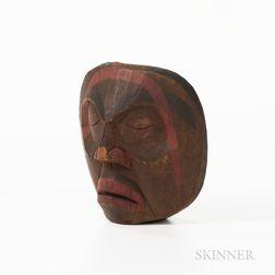 Northwest Coast Wood Plaque Mask