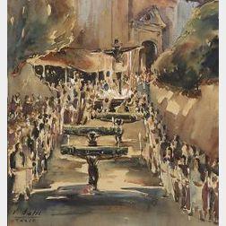 John Everts Bates (American, b. 1891)  Easter, Taxco