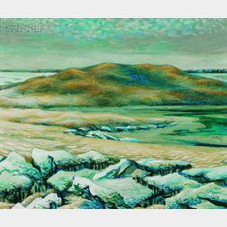 Frederick Rhodes Sisson (American, 1893-1962)      Coastal Landscape with Dunes