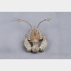 Diamond Bird of Paradise Brooch