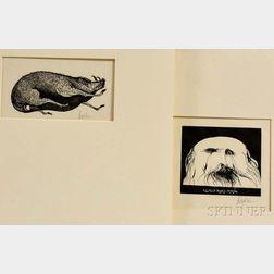 Leonard Baskin (American, 1922-2000)      Two Prints: Portrait