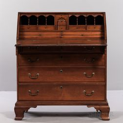 Chippendale Carved Cherry Slant-lid Desk